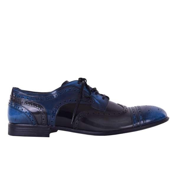 Zweifarbige Business Brogues Schuhe MILANO von DOLCE & GABBANA Black Label