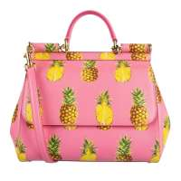 Tote Bag SICILY Medium Pineapple Pink