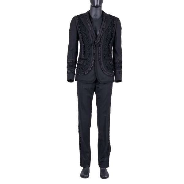 Embroidered spanisch torero style 3-pieces suit by DOLCE & GABBANA Black Line