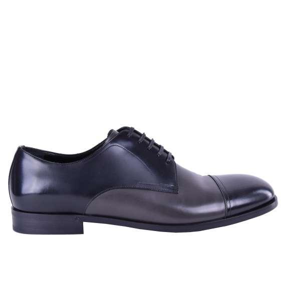 Zweifarbige Business Schuhe aus Glattleder von DOLCE & GABBANA Black Label