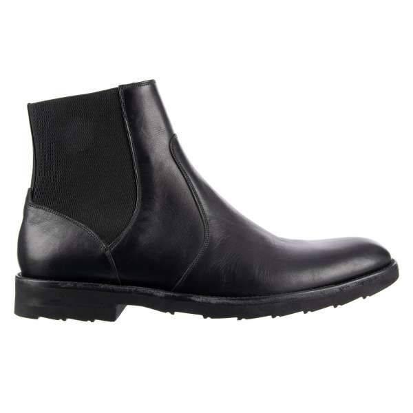Formal Style Chelsea Boots NAPOLI with elastic sides by DOLCE & GABBANA
