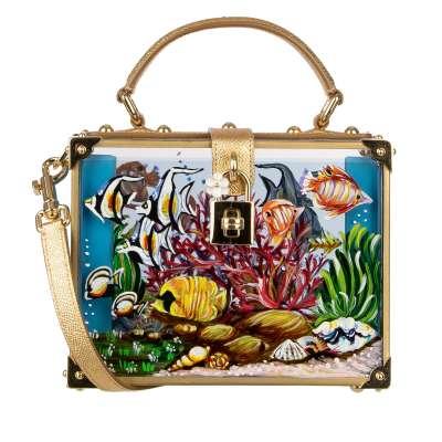 Hand Painted Aquarium Transparent Plexiglas Bag DOLCE BOX Gold