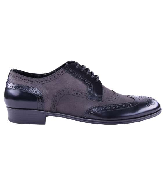 Suede / Patent Leather Shoes by DOLCE & GABBANA Black Label