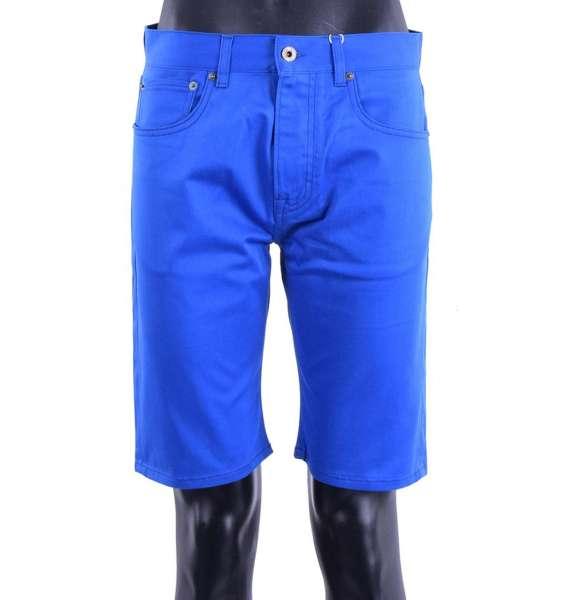 Bermuda Shorts im Denim / Jeans Stil aus elastischer Baumwolle von MOSCHINO COUTURE