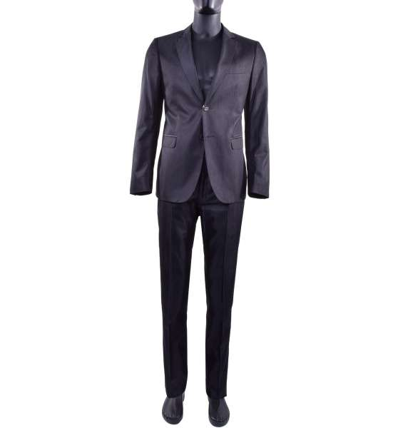 Single-Breasted business cotton and viscose suit by MOSCHINO First Line