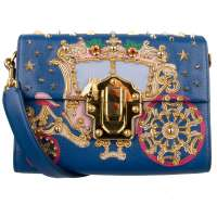 Studded LUCIA Bag with Coach Blue