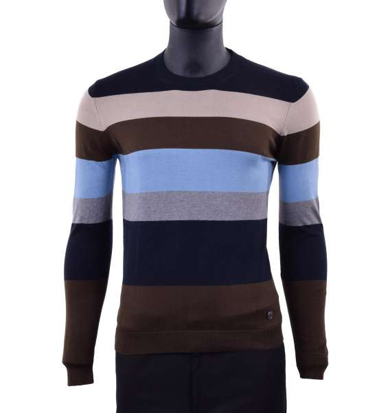 Striped Cotton Sweater by MOSCHINO