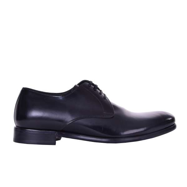 Formal derby shoes in black mat leather by DOLCE & GABBANA Black Label